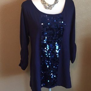 Style & co xl sparkling bling top